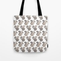 Grey Squirrel Tote Bag