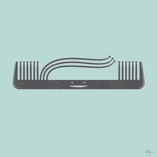 Comb Over Art Print
