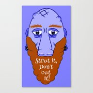 Beard Strut It Canvas Print