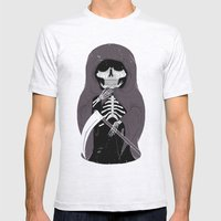 Death Mens Fitted Tee Ash Grey SMALL