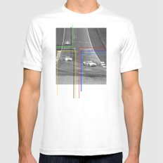 The Racing Line White Mens Fitted Tee SMALL