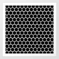 Graphic_Cells Black&Whit… Art Print