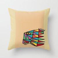 Triheaded Throw Pillow