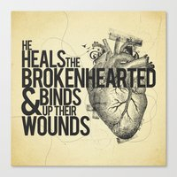 Psalm 147:3 Canvas Print
