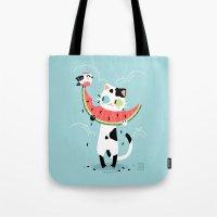 Watermelon Cat Tote Bag