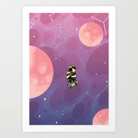 Teen Dog In Space Art Print