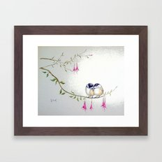 Two Chickadees Framed Art Print