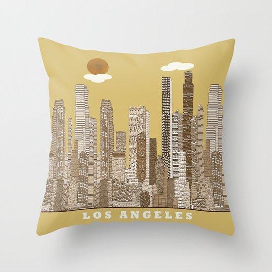 los angeles city   (vintage) Throw Pillow