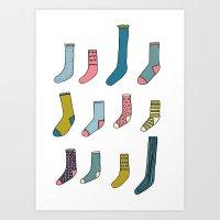 All My Odd Socks Art Print