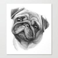 The Pug G123 Canvas Print