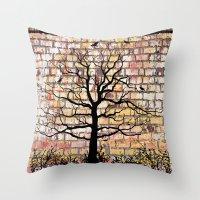 Graffiti Tree Throw Pillow