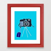 Camera on a photographic trip Framed Art Print