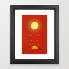 Crimson Typhoon Framed Art Print