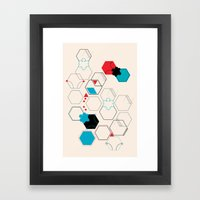 Bumble bees Framed Art Print