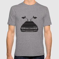 Delorean DMC 12 / Time M… Mens Fitted Tee Athletic Grey SMALL