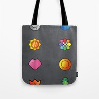 The Kanto Region Pokemon Gym Badges Complete Set Tote Bag