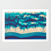 Blue Agate Water Element… Art Print