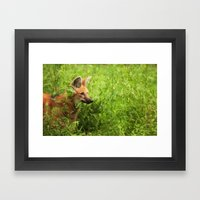 Peeking Out Framed Art Print