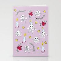 voodoo skulls Stationery Cards