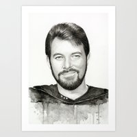 Commander William Riker Art Print