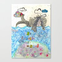 The Mermaid Of Zennor Canvas Print