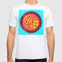 Push Buttons Mens Fitted Tee Ash Grey SMALL