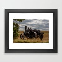 Steam Traction Engine Framed Art Print