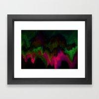 Fuchsia Drips Framed Art Print