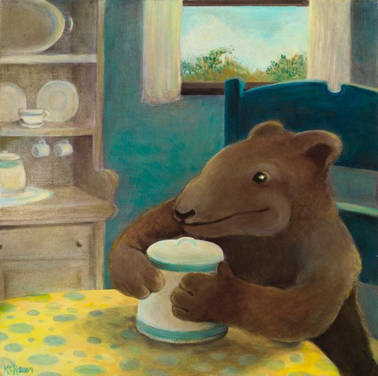 Little Bear and the cookie jar Art Print