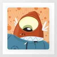 Doodle Critters 02 Art Print