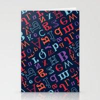 alphabet Stationery Cards featuring Alphabet  by cactus studio