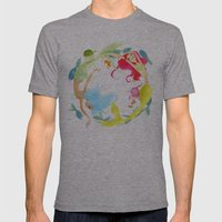 Mermaid Circle Mens Fitted Tee Athletic Grey SMALL