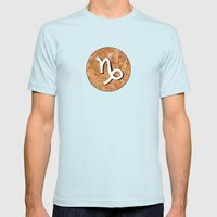Zodiac Sign : Capricorn Mens Fitted Tee Light Blue SMALL