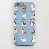 iPhone & iPod Case featuring ENGLISH DOGS by DoggieDrawings