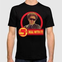 DEAL WITH IT!   Channel 5   Brule Mens Fitted Tee Black SMALL