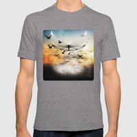 Salute The Morning Mens Fitted Tee Tri-Grey SMALL