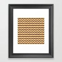 Wooden Chevron Framed Art Print