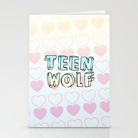 teen wolf Stationery Cards featuring TEEN WOLF by Sara Eshak
