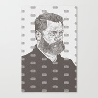 Nick Offerman Canvas Print