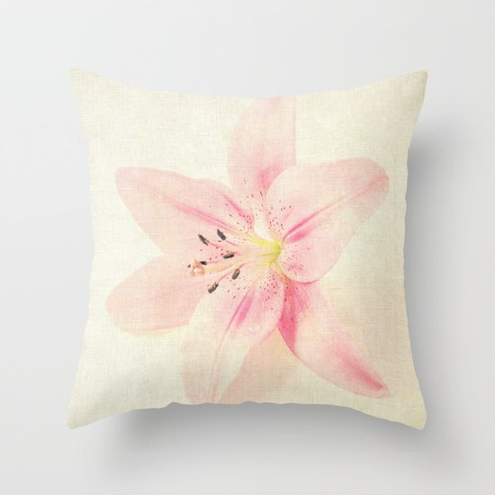 Flower On a Canvas  Throw Pillow