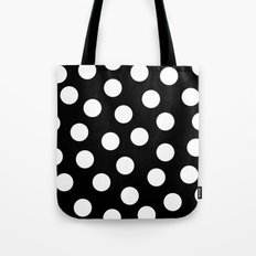 Black and white dots Tote Bag