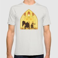 Ornstein and Smough (Dark Souls) Mens Fitted Tee Silver SMALL