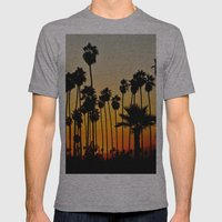 Palms To The Waning Day Mens Fitted Tee Athletic Grey SMALL