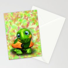 Green Turtle Baby 3D Stationery Cards