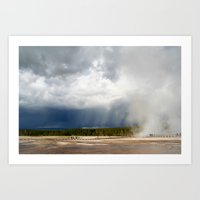 Beautiful Skies Of Yello… Art Print
