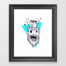 SYNTH-POP BLUE Framed Art Print