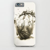 iPhone Cases featuring Buddha series - Non-attached  by Budi Kwan