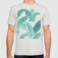 Palms Mens Fitted Tee Silver SMALL