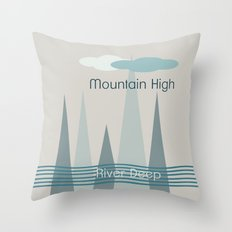 River Deep Throw Pillow