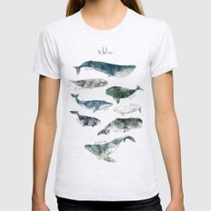 Whales Womens Fitted Tee Ash Grey SMALL